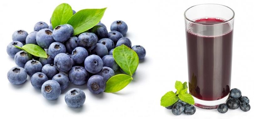 Fruit and Veggie Detox - blueberries