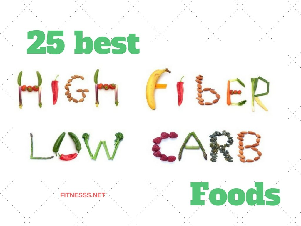 25 best high-fiber low-carb foods