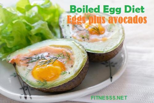 Boiled Egg Diet-Eggs plus avocados