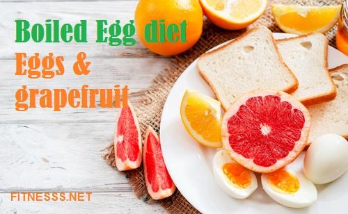 Boiled Egg Diet-Eggs and Grapefruit